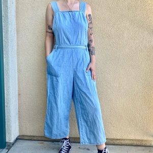 nordstrom two by vince camuto blue denim jumpsuit